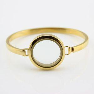 5pcs lot Round Stainless Steel Floating Locket Charms Bracelet Gold Screw 30mm Glass Memory Locket Bracelet&Bangles DIY Jewelry