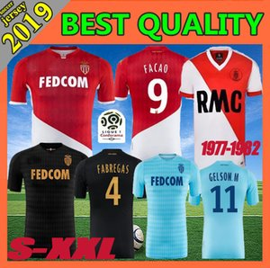 Formato S-XXL 2019 2020 nuovo AS Monaco Soccer Jersey Retro 19 20 FALCAO LEMAR JOVETIC CARRILIO casa lontano 3RD Football Shirt