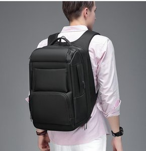 EURCOOL 여행 가방 남성 다기능 대용량 남성 Mochila 가방 포트 17.3 인치 노트북 학교 백팩