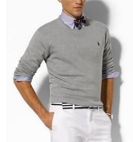 Envío libre 2019 de la alta calidad de los hombres de polo de Twisted Aguja suéter de punto de algodón de cuello redondo Suéter del suéter masculino tamaño S-XXL