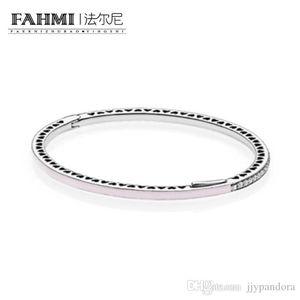 HYWo 100% de plata esterlina 925 1: 1 pulsera básico original auténtico encanto 590537EN68 adecuados joyería de bricolaje con cuentas Mujeres