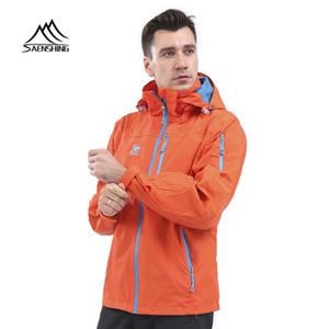 SAENSHING Пешеходные куртка ветровка мужчин водонепроницаемый ветрозащитный Открытый Кемпинг Рыбалка Clothings Мужской дышащие куртки дождя пальто T190919