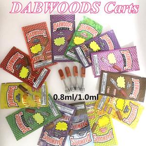 cartucce Dabwoods Wood Tip 0.8ml 1 ml ceramica Vape Penne Dabwoods carri vuoti vaporizzatore Pen 510 Discussione per la cartuccia di spessore 2,0 millimetri Oil
