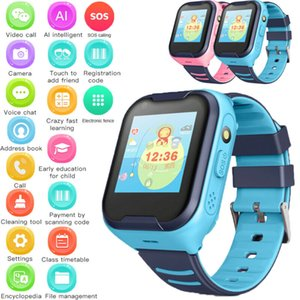 Reloj inteligente con GPS de localización LBS pantalla táctil del perseguidor SOS para Niños Niños impermeable Rastreador de seguridad inteligente reloj de pulsera de