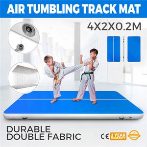 Jimnastik için hava Parça Mat 4x2x0.2 m Airtrack Yuvarlanan Ev Seti Eğimli Hava Kiriş Yoga Mat Pompası ile Ücretsiz Kargo