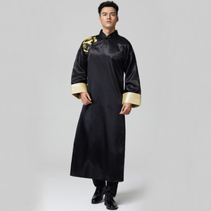 Photo studio Temi nuziali Abiti da uomo Abiti da sposa orientali Groomsman costume abito lungo Cross talk Show Robe For Oversea Chinese
