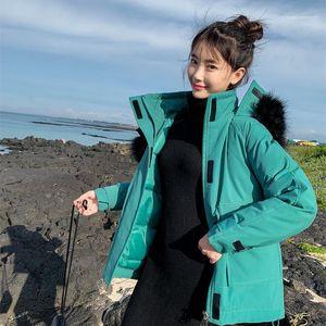 Warm Plue Size Fur Coat Casual Ladies Long Sleeve Solid Color Parka Women Outerwear Women Sweet Designer Coat Winter Thick