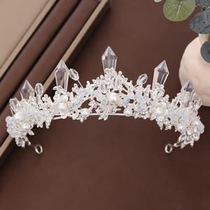 FORSEVEN Mulheres casamento nupcial Tiara Jóias Handmade Crytal Crown Headhand Mulheres Jóias Acessórios JL