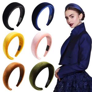 Diadema de esponja para mujer, niñas, color caramelo, aro de pelo de terciopelo, diadema gruesa y elástica, banda para el cabello, accesorios para el cabello Boutique para niñas, 11 colores M228