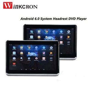 2 piezas de la cabeza del coche Monictot IPS de 10,1 pulgadas táctil reproductor de DVD androide 6.0 1080P HD WIFI / HDMI / USB / TF / BT 1 GB Soporte de aplicaciones de Android