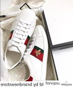 Mens Ace sneaker designer shoes Casual Shoes white women sneakers good embroidery bee cock tiger dog fruit on the side Trainers