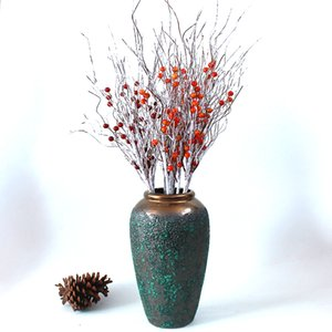 Artificial Berry Branch Red and Oranger Home Decoration Christmas Tree Decorations Fake Flowers Arrangements