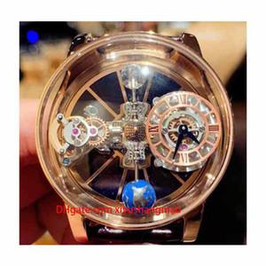 Relógios de luxo versão estática EPIC X CHRONO CR7 esqueleto Astronomical Tourbillon Dial Quartzo Suíço prateado caixa do relógio Mens Leather Designer