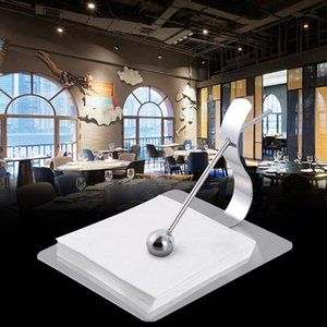 Adeeing steel Silver square paper towel holder Hotel restaurant napkin rack Dining table creative paper holder tissue box