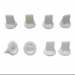 10 piezas de silicona blanca Duckbill válvula de una vía la válvula de retención 7,45 * 4,2 * 6,68 mm para líquido y gas de reflujo Prevent
