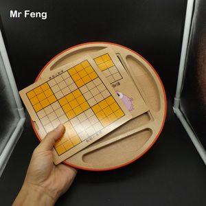 5 in 1 Sudoku Bulmaca Çok Fonksiyonlu Satranç Tahtası Ahşap Oyuncak Çocuk Hediye Zeka Eğitim Zihin Oyunu Oyuncaklar (Model Numarası Q007)
