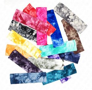 йога волос группа цвет галстук-краситель хлопок печатных оголовье эластичный Sweatband женщины девушки спортивные ленты для волос головные уборы тюрбан головные уборы D62906