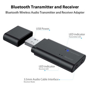 2 in 1 Bluetooth Transmitter And Receiver with 3.5mm Aux Port for TV, PC, Car, Headphones, Home Sound System