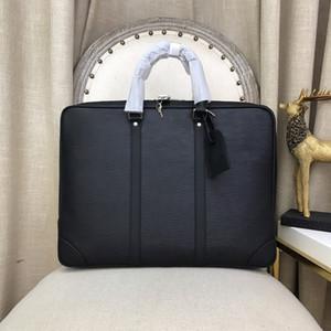 pastas de luxo saco de alta qualidade do couro grande capacidade Vários compartimentos dos homens homens do desenhista bolsa de negócios preto senha z