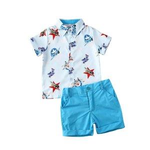 2ST Boy Kleidung stellt Baby-Sommer-Formale Kleidung Gentleman Kurzarmhemd Tops + Pants Outfit Größe 2-6Y