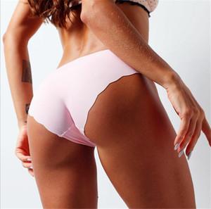여성 플러스 사이즈 원활한 속옷 통기성 Soflt 고체 낮은 허리 팬티 섹시한 여자 편안한 탄성 팬티