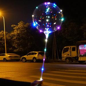 Dize Işıklar, Noel için LED Işık balonlarla Led BoBo Balonlar Sıcak Beyaz Pembe Mavi 20 İnç Şeffaf Helyum Balonlar
