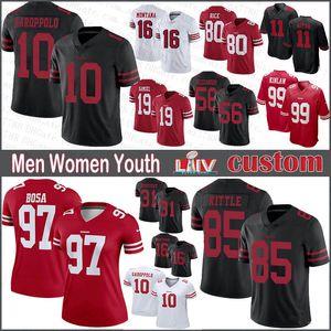 85 George Kittle 99 Javon Kinlaw San FranciscoCustom Men Women Kids 49erFootball jerseys 11 Brandon Aiyuk 10 Garoppolo 80 Rice