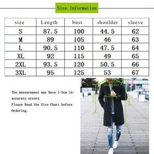 MoneRffi Autumn Winter Mens Coats Blends Jacket Male Overcoat Cotton Coat Fleece Collar Casual Slim Solid Long Trench Streetwear Hssdj