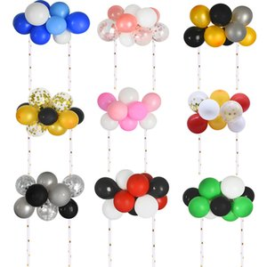 1Set 5inch Colored Balloon Clouds Cake Topper Kids Toy Birthday Decoration Baby Shower Wedding Supplies Cake Top Flag Decor