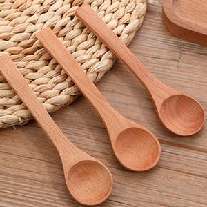 High quality Wooden spoon wooden children's jam spoon Mini honey spoon beech scoop 12.7cmx3cm Factory wholesale
