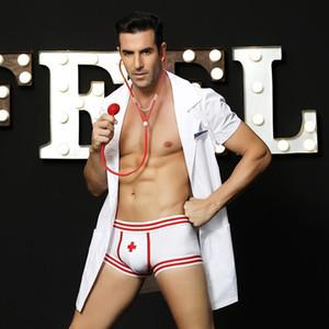 Nightclub role-playing men's sexy underwear European and American sexy doctor male nurse sexy uniform temptation 6602