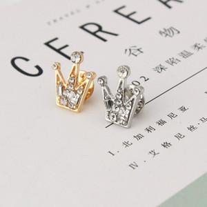 Plein cristal de diamant mini unisexe petite couronne Broche robe costume beauté Fête de mariage Chemise Broche cadeau Saint-Valentin