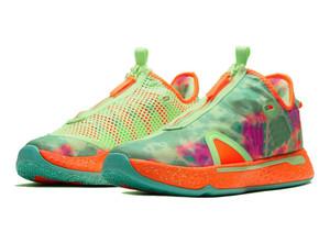 어린이 Gatorade PG4ASW AllStar 판매 신발 상자 폴 조지 4 남성 여성 농구 신발 가게 size36-46 판매