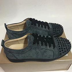 2020 France Jovem Man Red inferior Júnior Sneakers Moda Skate Shoes Designer Suede Spikes baixo top de renda com pregos das sapatilhas s087