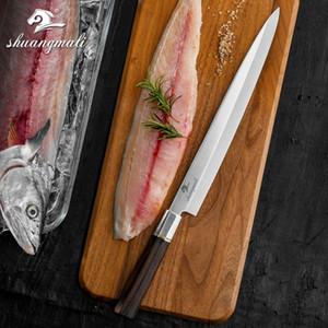 Profissional Pesca de 12 polegadas japonesa Sashimi Faca Yanagiba faca de cozinha chef de sushi facas 5cr15 Aço Salmon Japão