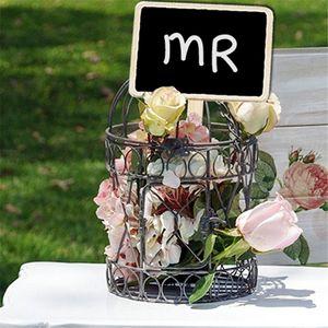 Mini Ahşap Kara Tahta Etiketler İşaretler Bahçe Çiçekler Bitkiler Ev Etiketler Parti Dekorasyon El Sanatları VT0430 Etiketleri