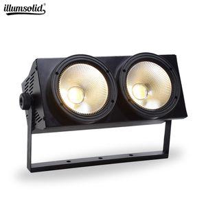 2x100W COB DMX Etapa de iluminación Led Blinder / luces cálidas de la superficie blanca etapa de DMX estudio de la TV de la Iglesia