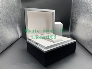 Negro de lujo de alta calidad de la caja original para hombre Mujer de relojes de pulsera Cajas Hombres caja con Certificados Caja de Madera Para IVVC Relojes