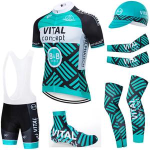 6PCS insieme completo TEAM 2020 concetto fondamentale cicla 20D pantaloncini bici Set Ropa Ciclismo estate secca rapido pro BICICLETTA Maillot inferiori di usura