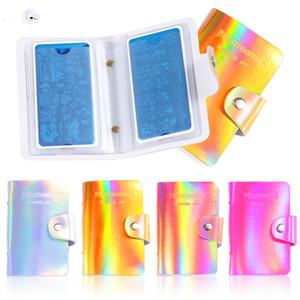 20slots vide Nail Art Plaque de timbre Porte Plaques Stamping coffret de rangement laser coloré ongles Modèle de timbre Sac Organisateur manucure