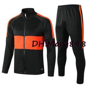 Tous les hommes Zip veste cardigan Soccer Jersey kits de costume de formation / nom personnalisé et numéro / doivent contacter l'enquête si l'inventaire est