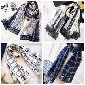 Haute qualité 2019 automne mode et foulards de soie de la marque d'hiver classique intemporel, châle super long foulard de soie doux femmes de la mode