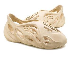 2020 fashion platform kanye west slippers shoes men womens kids boys flip flops sandals Bone Desert Sand Designer Slides Parent-child style