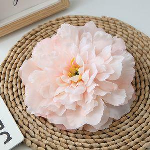 16cm 10 colores Peony Cabeza de flor artificial de la alta calidad de la fiesta de cumpleaños Flores matrimonio boda Flores ornamentales decoración del hogar