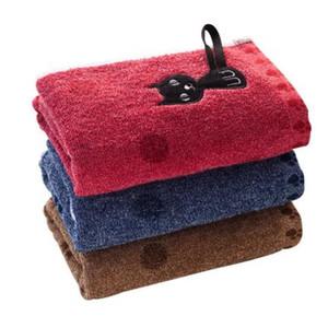 القط مطبوعة عالية الجودة المناشف منشفة 25x50cm زوجين المنزلية القطن الناعمة الوجه منشفة الطفل شعبي لطيف الكرتون الساخن بيع 1PC