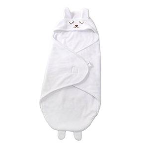 Infant Baby Polar Fleece Swaddle Wrap Swaddling Blanket Winter Warm Sleeping Bag