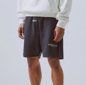 19SS Fear Of God FOG Essentials Reflective Shorts Vintage Street Elastic Waist Outdoor Short Pants Sport Loose Casual Shorts HFYMKZ170