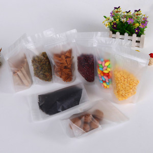 Resellable Doypack Stand Embalaging Block Packing Packing Pouch Storage Up Bolsa de plástico Clear Zipper Food Coffee Frosted Zip Bag WWTAJ