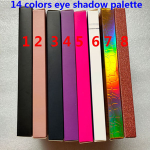 العلامة التجارية 14 ألوان ظلال العيون لوحة لامع ماتي العين ظلال الجمال ماكياج 14 ألوان عينيه لوحة ماء جودة عالية