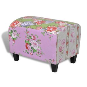 Tabouret Repose-pieds Ottoman Patchwork Floral design Living Room Furniture